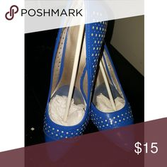 Christian Sirrano Pumps 3 inch heel royal blue. Only worn twice. A little creasing in the toe box. Size 9.5 Payless Shoes Heels