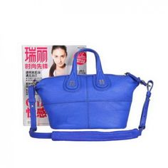 Givenchy Nightingale Bags on Sale - Classic Replica Givenchy Nightingale Leather Holdall Bag G6322 Blue