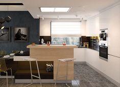 Projekt domu Karat 2 162,51 m² - koszt budowy - EXTRADOM 2 Storey House Design, Kitchen, Table, Furniture, 1, Home Decor, Model, Fuller House, Projects