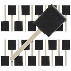US Art Supply 2 inch Foam Sponge Wood Handle Paint Brush Set Value Pack of - Supplies Sponge Paint Brush, Foam Paint Brush, Sponge Painting, Art Brush, Brush Set, Arts And Crafts Supplies, Art Supplies, Extreme Glow, Acrylic Paint Set