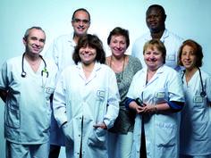 Equipe d'anesthésie : médecin anesthésiste, infirmière anesthésiste, cadre de santé, assistante médico administrative (secrétaire médicale)