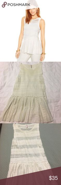Free people lace top Gorgeous, lace peplum top. Great condition. Free People Tops Tank Tops
