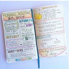 morning routine #bulletjournal #art #diary #planning