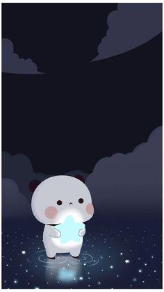 Dark Wallpaper Iphone, Anime Scenery Wallpaper, Cute Wallpaper Backgrounds, Pretty Wallpapers, Galaxy Wallpaper, Cute Kawaii Backgrounds, Cute Panda Wallpaper, Bear Wallpaper, Cute Disney Wallpaper