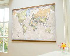 Classic world map  Medium by MapsInternationalUSA on Etsy