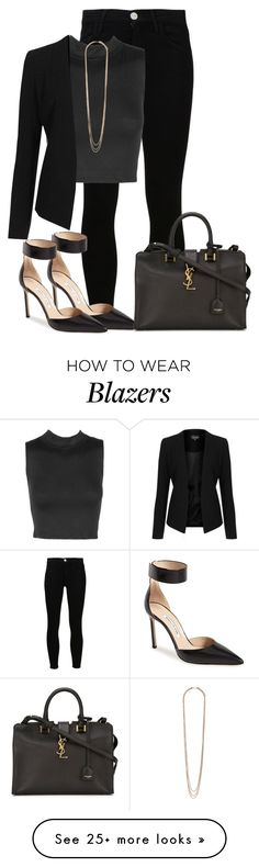 """Sem título #433"" by cecebay on Polyvore featuring Goldsign, Topshop, Manolo Blahnik and Yves Saint Laurent"