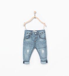 Pantalon en jean avec revers à rayures - Jeans - Bébé garçon (3 - 36 019e8619f566