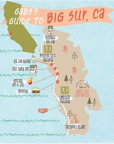 Gaby's Guide to Big Sur / Nepenthe, has a great view of the ocean on the outside patio. The food quality there is nothing to write home about
