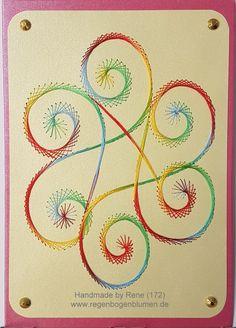 Grußkarten-Set 172 - Motiv: Swirl 02_2 Copyright des Motives: Linda Linzoos - Doppelkarte mit Umschlag im Format A6