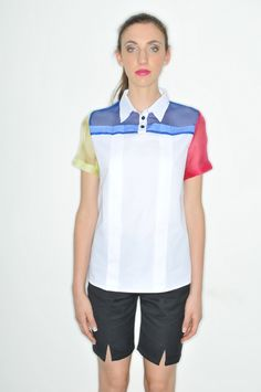 Plexi Polo_ HanselGretel Poplin Cotton and Silk Organza Polo Shirt