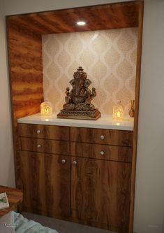 Pooja Room Door Design, Room Design Bedroom, Bedroom Furniture Design, Home Room Design, Living Room Designs, Bed Furniture, Wooden Temple For Home, Temple Design For Home, Living Room Partition Design