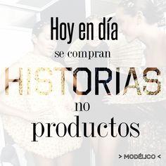 Si vas a contar algo sobre tu empresa, que sea tu historia... no los beneficios de tu producto. #modelico
