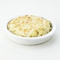 Ovenschotel met bloemkool, aardappel en gehakt