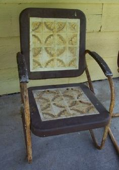 vintage metal rockers   Vintage Metal Lawn Chairs   Preserve Cottage