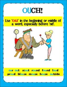 Clowning Around With Words- An 'OU' and 'OW' Activity For