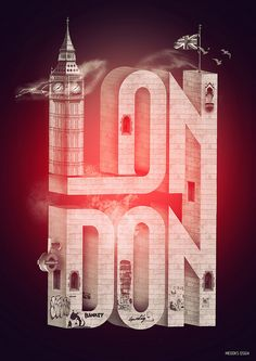 "Simply put, the subject of this design is London. Aside from knowing this just from the word ""London,"" the audience can determine this through the key features the designer used, such as Big Ben and the British flag."