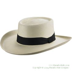Panador Classic Gambler Panama Hat: our widest brimmed Panama hat and as such provides shade for those with sensitive eyes. It's still the perfect hat when visiting the riverboat casinos, or playing the ponies, or relaxing on the links.