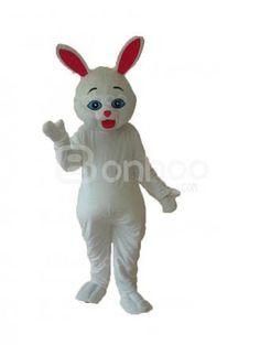 White Rabbit Plush Adult Mascot Costume