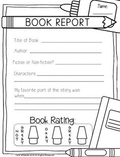 Non fiction book report form pdf   School Book Report   Pinterest     Pinterest Daily Planet Report   This product gives students an area to explore and  record the different