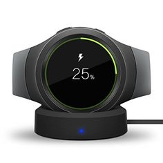 Awesome Gear S2 Wireless Charger, VONOTO Qi Wireless Charger Charging Dock Station Cradle with Micro USB cable for Samsung Gear S2 Smartwatch (Black)