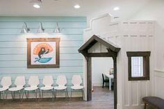 Pediatric Dentist office design, waiting room, pediatric dental office design