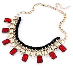 I need a red necklace