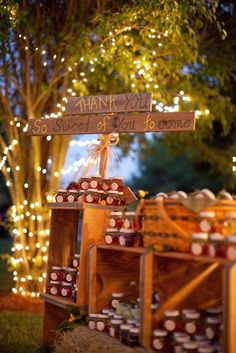 Give guests honey jars as a sweet send-off.