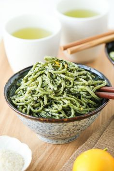Green Tea Soba with Nori Pesto | Thirsty for Tea | Bloglovin'