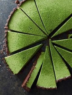 Matcha coconut custard tart recipe
