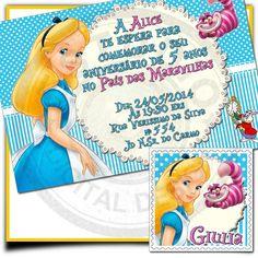 22 modelos de Convites da Alice no País das Maravilhas! continue vendo...