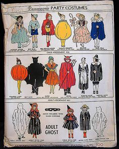 Dennison's Paper Costume-ghost  Crepe paper costume in envelope