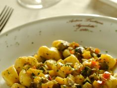 Patate con verdure miste / Potatoes with mixed vegetables