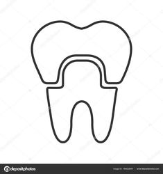 Crown Drawing Outline and Dental Crown Linear Icon Thin Line Illustration Tooth Crown Drawing, Crown Images, Dental Crowns, Thin Line, Line Illustration, Dentistry, Outline, Tooth, Drawings