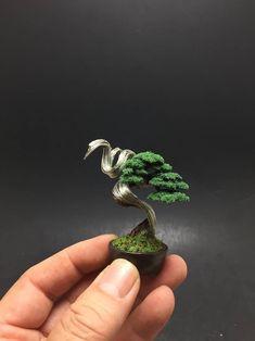 Flocked deadwood wire bonsai tree by Ken To by KenToArt on DeviantArt Wire Trees, Wire Art, Flocking, Bonsai, Deviantart, Whimsical, Gardens, Metal, Ideas