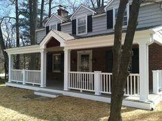 Trex Front Porch 5 974 Addition Decking Home Design Photos