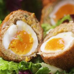 Chicken Masala-Wrapped Soft-Boiled Eggs (Indian Scotch Egg)  Pinterest | https://pinterest.com/elcocinillas/