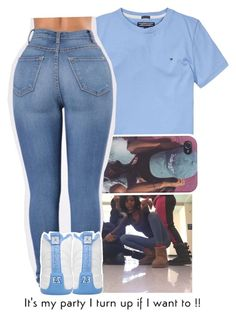 """""""You a bad girl and your friends bad too """" by baby-wavy ❤ liked on Polyvore featuring Tommy Hilfiger"""