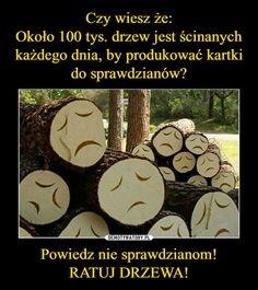 Powiedz nie sprawdzianom!RATUJ DRZEWA! – Wtf Funny, Funny Memes, Hilarious, Jokes, Polish Memes, I Dont Need You, More Than Words, Best Memes, True Stories