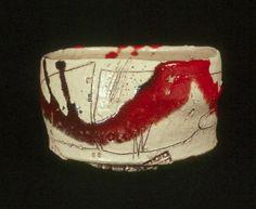 Kazu Yamada Red Oribe Tea Bowl