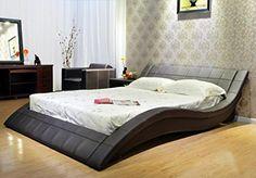 GREATIME B1041 Eastern King Dark Brown Wave-like Shape Upholstered Bed Greatime http://www.amazon.com/dp/B00MG7AF64/ref=cm_sw_r_pi_dp_.YJdvb0JE77KS