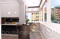 Кухня, совмещенная с балконом. Статьи компании ««New House»»