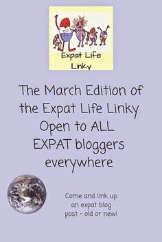 Expat Life With a Double Buggy Monthly expat blogger link up - open until 18th March