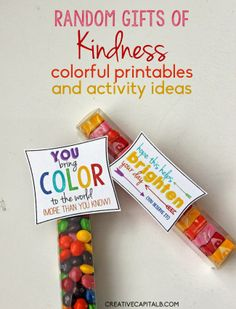 sweet gifts for friends {with printables}