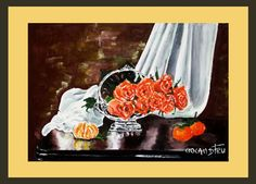 ROSES Mod de realizare : acril pe panza Dimensiune : 39 X 27 cm Lucrare disponibila Acrylic Paintings, Roses, Art, Pink, Kunst, Rose, Art Education, Pink Roses, Artworks