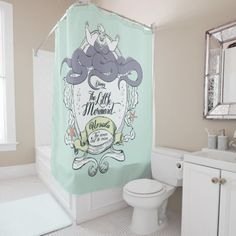 Little Mermaid | Ursula - The Ocean Will Be Mine Shower Curtain In a kingdom beneath the waves, Ariel dreamed of dancing on the shore. Far under the sea, a mermaid dreamed of finding romance on land. #ad