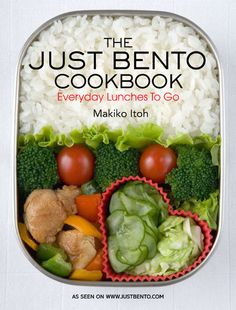 most amazing book! just-bento cookbook! Because the same old bentos are boring!