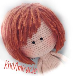 Discover thousands of images about Crochet doll pattern Amigurumi crochet toy pattern PDF Crochet Crochet Amigurumi, Crochet Doll Pattern, Crochet Toys Patterns, Amigurumi Patterns, Amigurumi Doll, Stuffed Toys Patterns, Crochet Girls, Cute Crochet, Crochet Chain Stitch