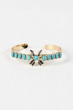 Crossed Arrows Turquoise Bracelet $ 29.00