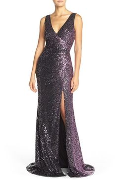 Badgley Mischka Ombré Sequin Gown available at #Nordstrom