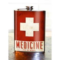 Medicine 8oz Flask Stainless Steel